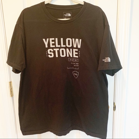 583341745 The North Face Yellowstone Coordinates Graphic Tee